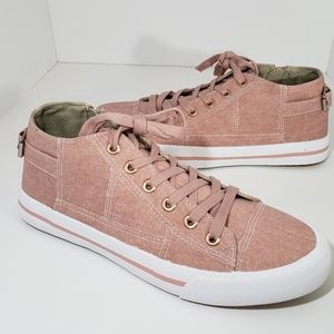 Shoes - NIB Blush Dusty Pink Comfort Canvas Sneakers 7.5